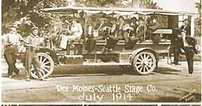 Neal Brother's Bus - July 1914